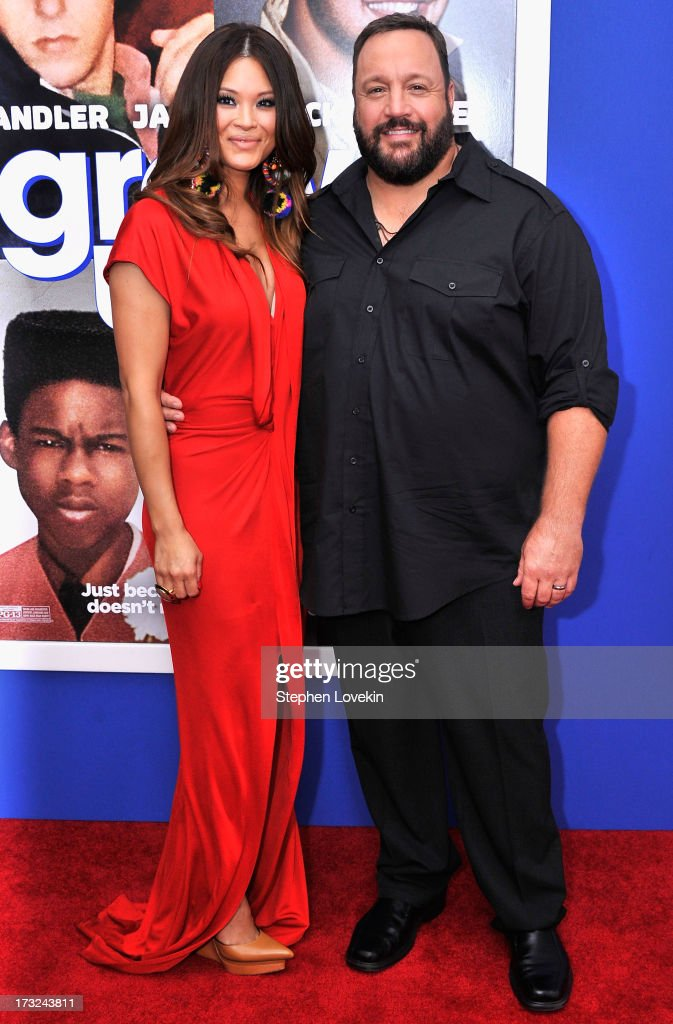Steffiana de la Cruz (L) and actor Kevin James attend the 'Grown Ups 2' New York Premiere at AMC Lincoln Square Theater on July 10, 2013 in New York City.