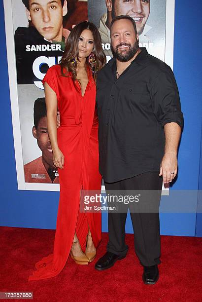 Steffiana de la Cruz and actor Kevin James attend the Grown Ups 2 New York Premiere at AMC Lincoln Square Theater on July 10 2013 in New York City