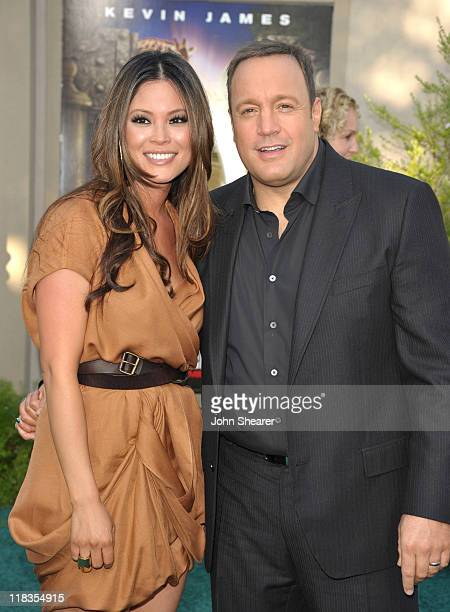 Steffiana de la Cruz and Kevin James arrive to the Zookeeper Los Angeles Premiere at Regency Village Theatre on July 6 2011 in Westwood California