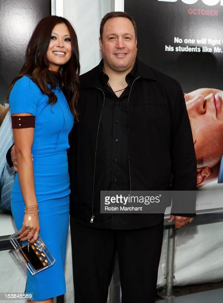 Steffiana De La Cruz and Kevin James attend the Here Comes The Boom premiere at AMC Loews Lincoln Square on October 9 2012 in New York City