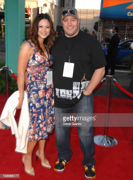 Steffiana De La Cruz and Kevin James during Ratatouille Los Angeles Premiere Arrivals at Kodak Theatre in Hollywood California United States