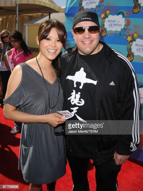 Steffiana James and Kevin James arrive at the Make A Wish Foundation event hosted by Kevin and Steffiana James at Santa Monica Pier on March 14 2010...