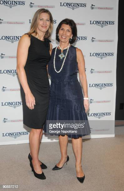 Steffie Graf and Town Country Editor inChief Pamela Fiori attend the Women Who Make a Difference Awards hosted by Longines and Town Country at Hearst...