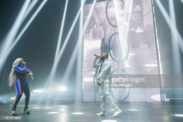 Stefflon Don and Headie One perform at O2 Academy Brixton on November 10, 2019 in London, England.