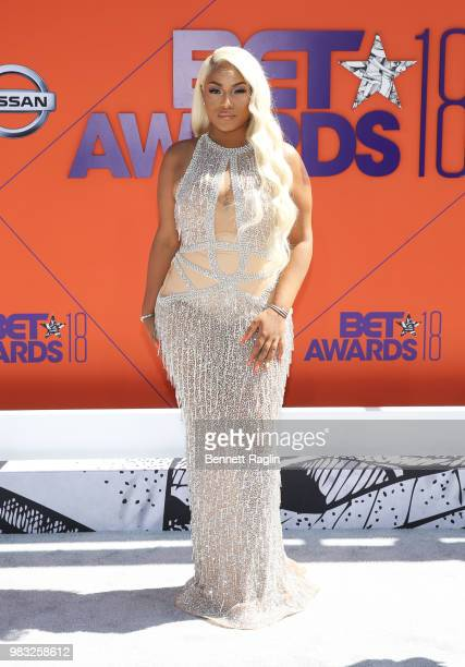 Stefflon Don attends the 2018 BET Awards at Microsoft Theater on June 24 2018 in Los Angeles California
