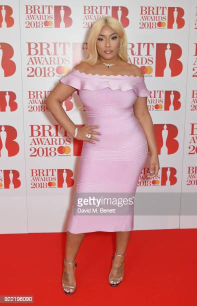 AWARDS 2018 *** Stefflon Don attends The BRIT Awards 2018 held at The O2 Arena on February 21 2018 in London England