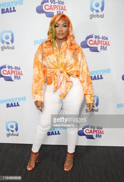 Stefflon Don attends the Capital FM Summertime Ball at Wembley Stadium on June 08 2019 in London England