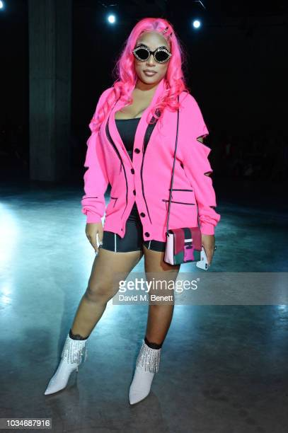 Stefflon Don attends the Christopher Kane front row during London Fashion Week September 2018 at the Tate Modern on September 17 2018 in London...