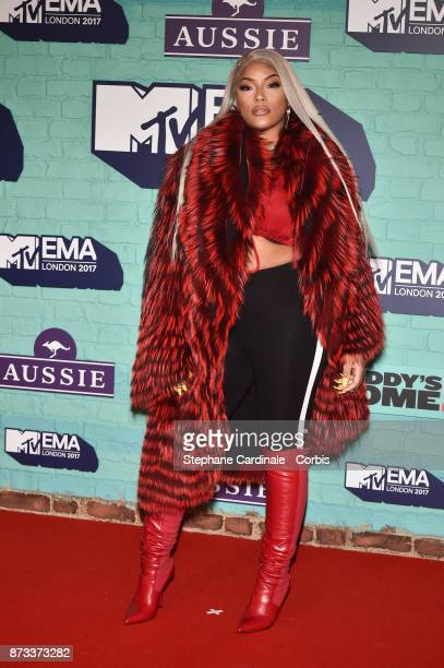 Stefflon Don attends the MTV EMAs 2017 at The SSE Arena Wembley on November 12 2017 in London England
