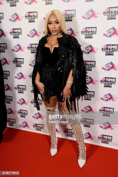 Stefflon Don attends the VO5 NME Awards held at Brixton Academy on February 14 2018 in London England