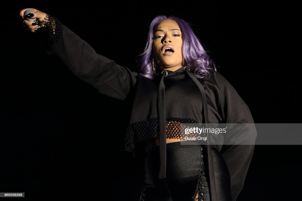 Stefflon Don perform live on stage at The O2 Arena on October 23, 2017 in London, England.