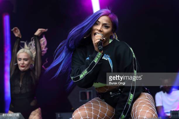 Stefflon Don performs on day 3 of Wireless Festival at Finsbury Park on July 9 2017 in London England