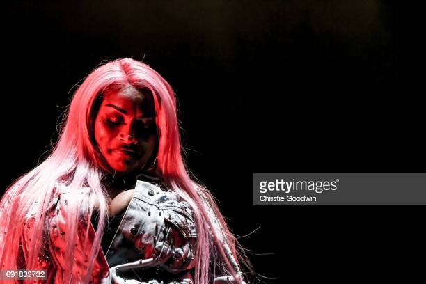 Stefflon Don performs on stage at The Royal Albert Hall on May 27 2017 in London England