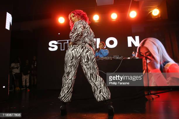 Stefflon Don performs onstage at the REVOLT X AT&T Host REVOLT Summit In Los Angeles at Magic Box on October 27, 2019 in Los Angeles, California.
