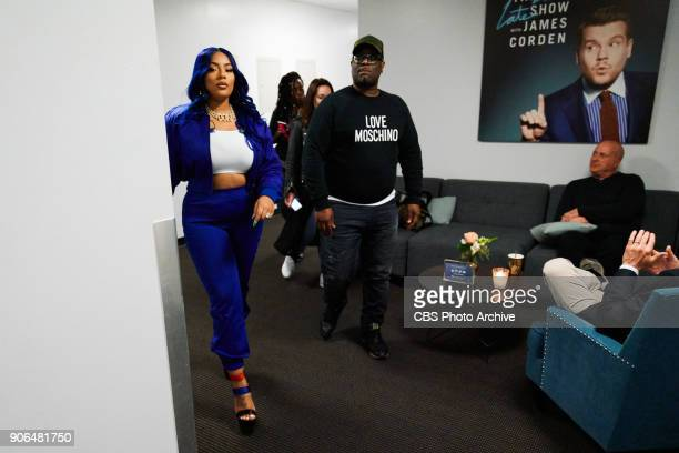 Stefflon Don walks backstage during The Late Late Show with James Corden Wednesday January 17 2018 On The CBS Television Network
