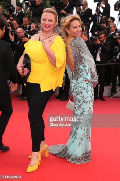 """Stefi Celma and guest of Chopard attend the screening of """"Pain And Glory """" during the 72nd annual Cannes Film Festival on May 17, 2019 in Cannes,..."""