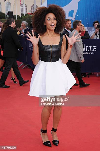 Stefi Celma arrives at the 'The Man From UNCLE' Premiere during the 41st Deauville American Film Festival on September 11 2015 in Deauville France