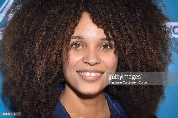 """Stefi Celma attends """"Pupille"""" Premiere at Cinema Pathe Beaugrenelle on November 27, 2018 in Paris, France."""