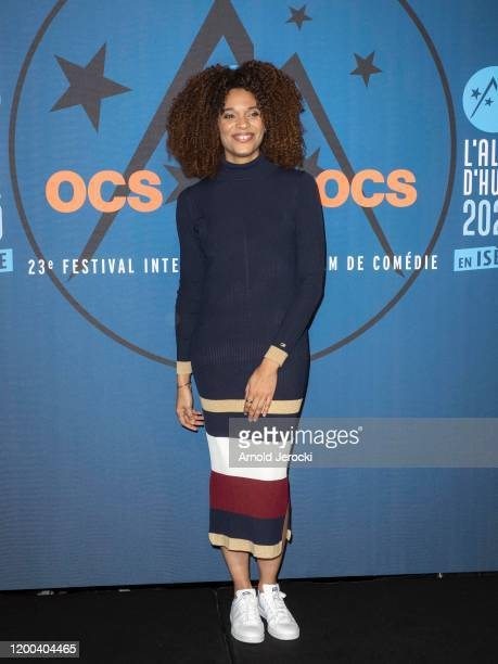 Stefi Celma attends the closing ceremony of the 23rd L'Alpe D'Huez International Comedy Film festival on January 18 2020 in Alpe d'Huez France