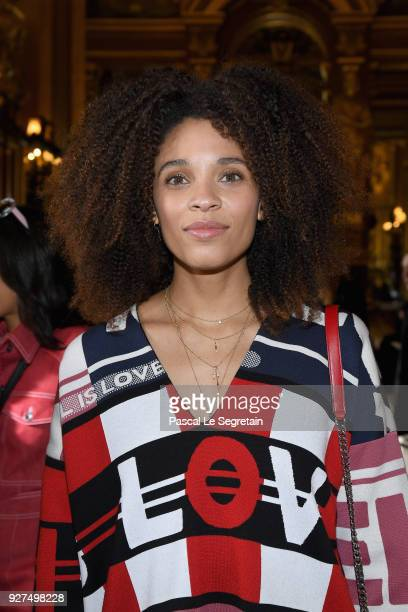 Stefi Celma attends the Stella McCartney show as part of the Paris Fashion Week Womenswear Fall/Winter 2018/2019 on March 5, 2018 in Paris, France.