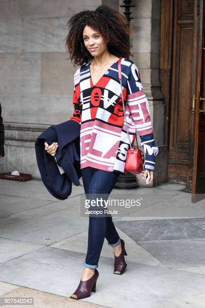 Stefi Celma attends the Stella McCartney show as part of the Paris Fashion Week Womenswear Fall/Winter 2018/2019 on March 5 2018 in Paris France