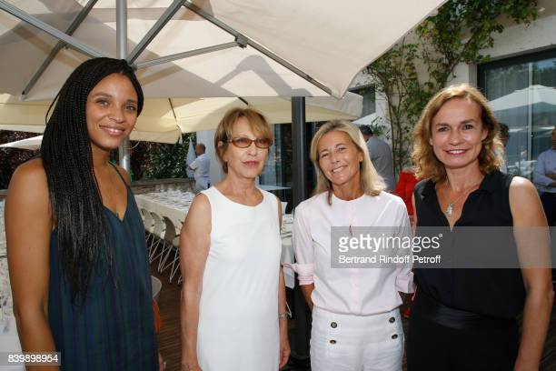 Stefi Celma Nathalie Baye Claire Chazal and Sandrine Bonnaire attend the 10th Angouleme FrenchSpeaking Film Festival Day Six on August 27 2017 in...
