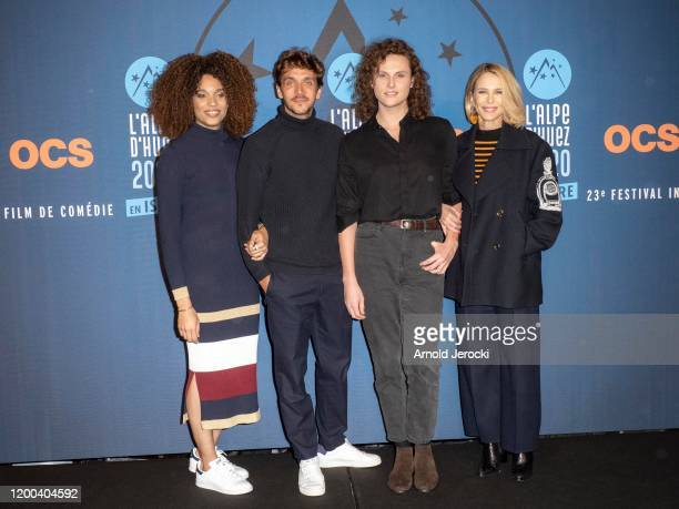 Stefi Celma Ruben Alves Alexandre Wetter and Pascale Arbillot attends the closing ceremony of the 23rd L'Alpe D'Huez International Comedy Film...
