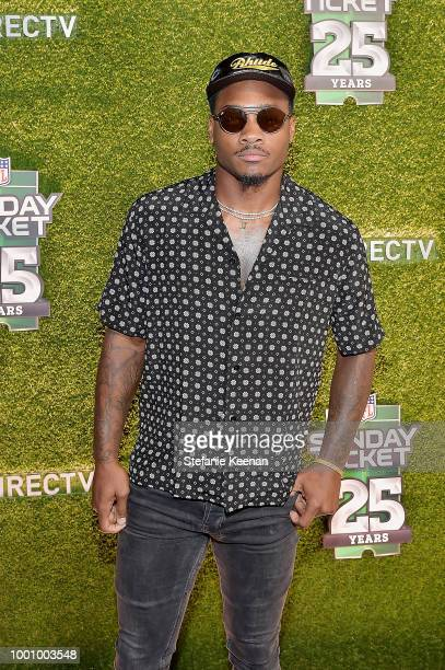Stefon Diggs attends DIRECTV CELEBRATES 25th Season of NFL SUNDAY TICKET at Nomad Hotel Los Angeles on July 17 2018 in Los Angeles California