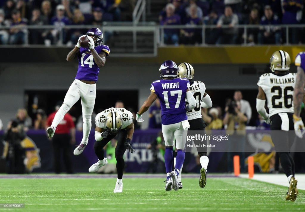 Divisional Round - New Orleans Saints v Minnesota Vikings : ニュース写真