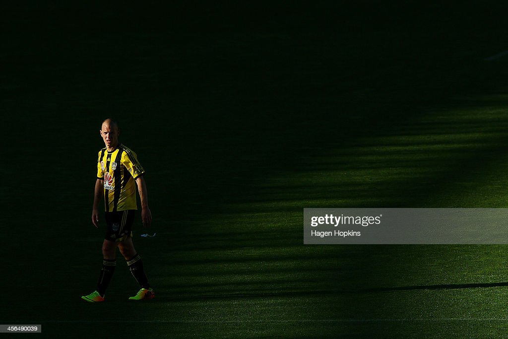 Stein Huysegems of the Phoenix looks on during the round 10 A-League match between the Wellington Phoenix and Brisbane Roar at Westpac Stadium on December 14, 2013 in Wellington, New Zealand.