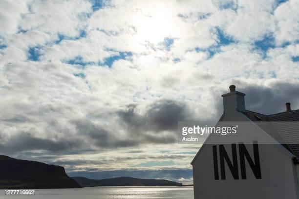 Stein Inn and Loch Bay. Stein. Waternish Peninsula. Isle of Skye. Scotland.
