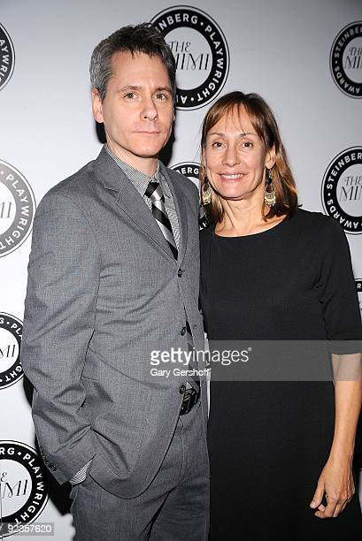 Steinberg Playwright Award recipient Bruce Norris and actress Laurie Metcalf attend the 2nd Annual 'Mimi' Awards at Lincoln Center for the Performing...