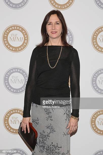 Steinberg Playwright Award winner Lisa d'Amour attends the 2015 Steinberg Playwright Awards at Lincoln Center Theater on November 16 2015 in New York...