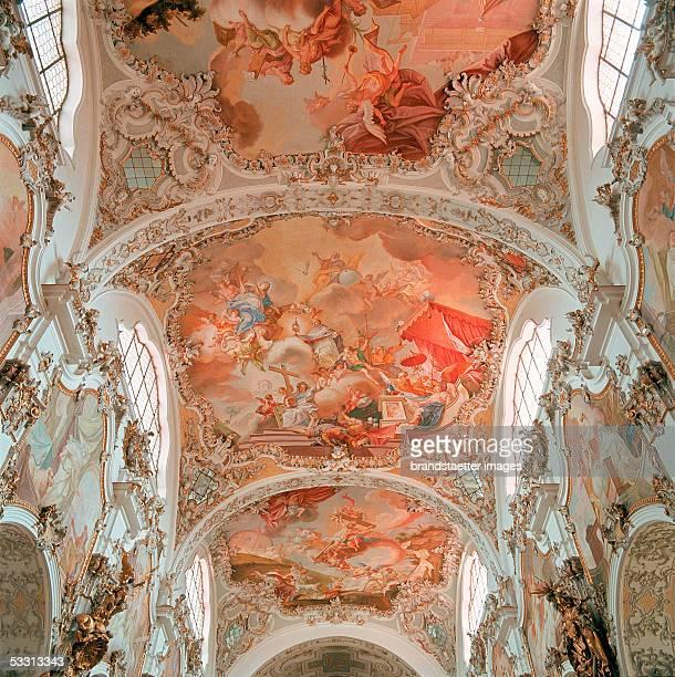 Steingaden Upper Bavaria Premonstratensianmonastery Interior view of he church Originally Roman church above the choir renaissance design partly...