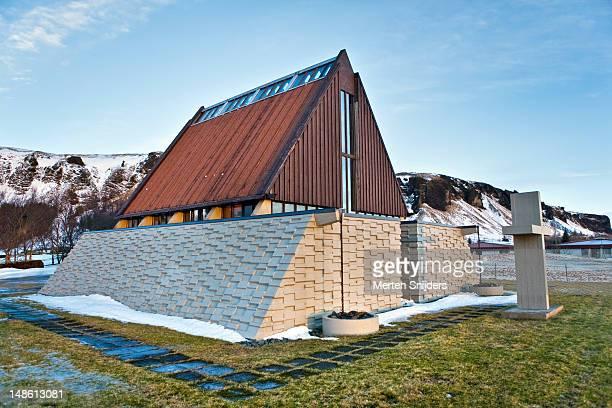 steingrimsson memorial chapel. - merten snijders stockfoto's en -beelden