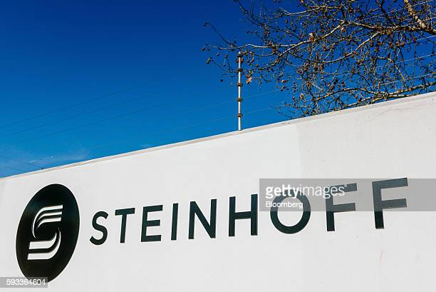 A Steinhoff International Holdings NV logo sits on display outside the company's offices in Stellenbosch South Africa on Wednesday Aug 17 2016...