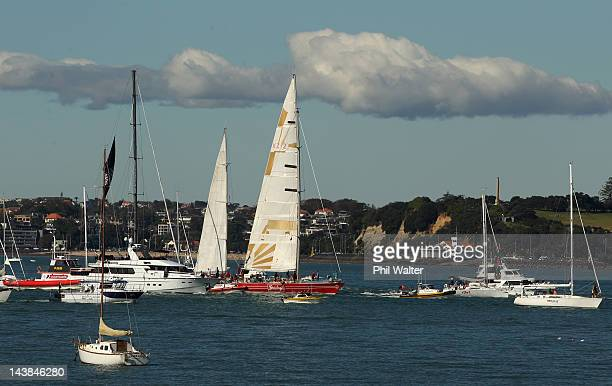 Steinlager II returns to New Zealand on May 5 2012 in Auckland New Zealand Steinlager II is one of the country's most well known boats after winning...
