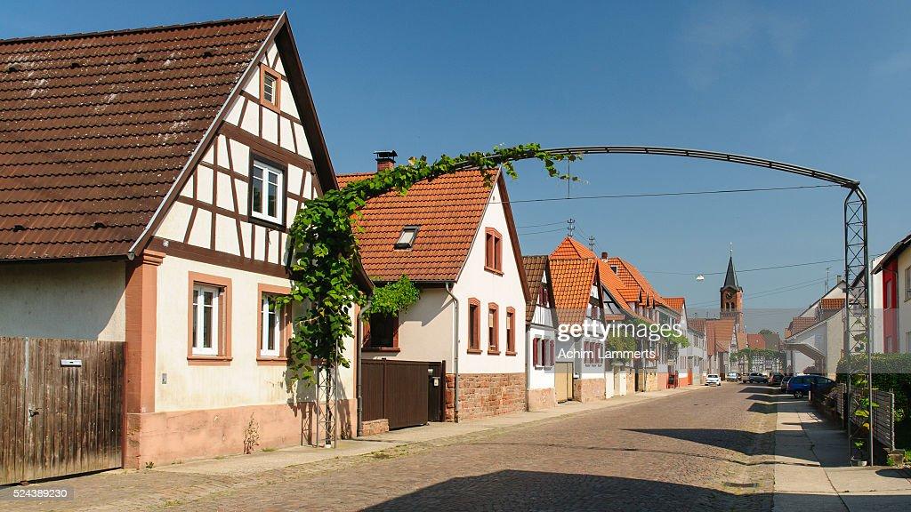 Steinweiler, village in South Palatinate (Südpfalz) : Stock-Foto