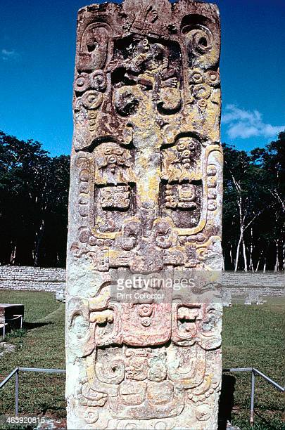 Stele B from Copan Honduras PreColumbian Maya c300630 Copan was an important Maya city from the 5th until the 9th century
