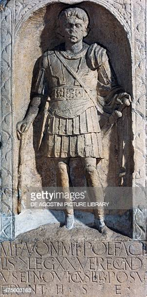 Stele of Marcus Favonius Facilis a centurion of the 20th Legion England United Kingdom Roman civilisation 1st century Colchester Colchester And Essex...