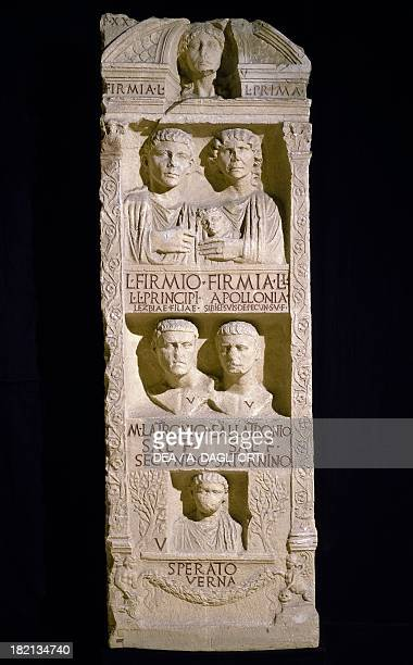 Stele of the freedmen from the Firmia family. Roman Civilisation, 1st century. Ravenna, Museo Nazionale