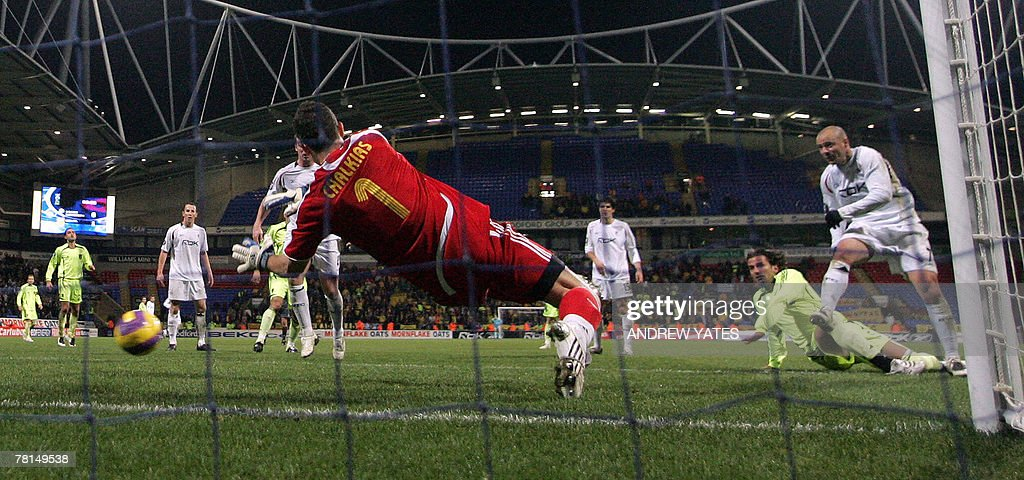 Stelios (R) of Bolton Wanderers scores p : News Photo