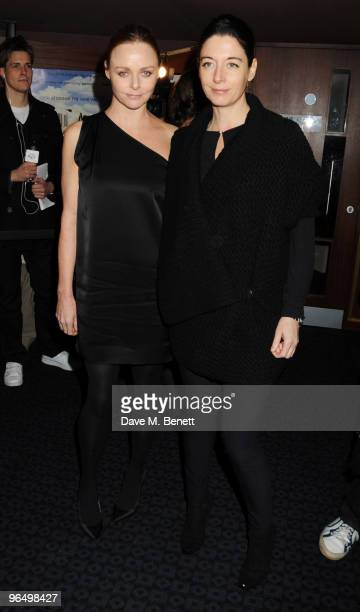 Stella and Mary McCartney arrive at the VIP screening of 'Food Inc' at the Curzon Cinema Mayfair on February 8 2010 in London England