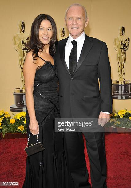 Stella Arroyave and Sir Anthony Hopkins arrives at the 81st Annual Academy Awards held at The Kodak Theatre on February 22 2009 in Hollywood...