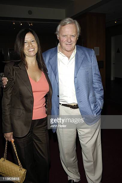 Stella Arroyave and Sir Anthony Hopkins during The Academy of Motion Picture Arts Sciences Salute to Don Siegel at The Academy of Motion Picture Arts...