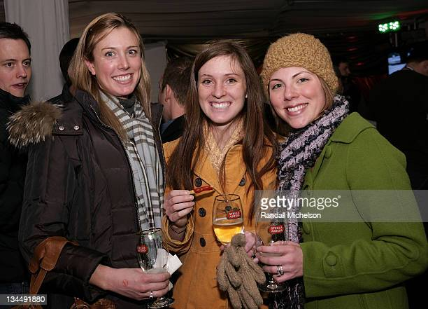 Stella Artois guests Anne MacCleod Becky Rosenthal and Lori Koren attend the Stella Artois Cutting Room during the 2008 Sundance Film Festival at the...