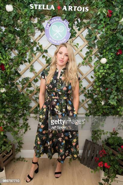 Stella Artois hosts Ellie Goulding at The Championships Wimbledon as the Official Beer of the tournament at Wimbledon on July 2 2018 in London England
