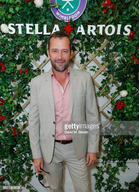 Stella Artois hosts James Purefoy and at The Championships, Wimbledon as the Official Beer of the tournament at Wimbledon on July 5, 2018 in London,...
