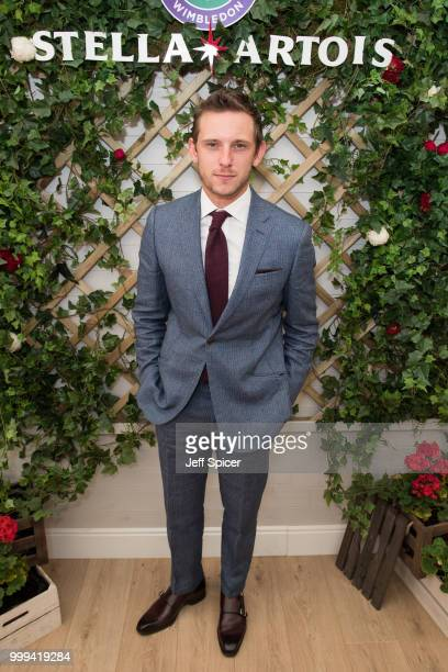 Stella Artois hosts Jamie Bell at The Championships Wimbledon as the Official Beer of the tournament at Wimbledon on July 15 2018 in London England