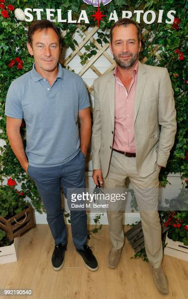 Stella Artois hosts Jason Isaacs and James Purefoy at The Championships, Wimbledon as the Official Beer of the tournament at Wimbledon on July 5,...